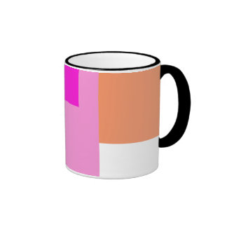 Geometric Abstract Art Minimal Pink Ringer Mug