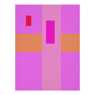 Geometric Abstract Art Minimal Pink Poster