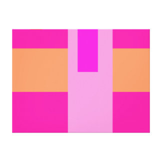 Geometric Abstract Art Minimal Pink Stretched Canvas Prints
