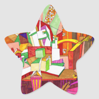 Geometric Abstract Art Sticker