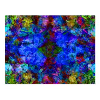 Geometric Abstract Bright Blue Postcard