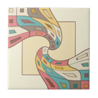 Geometric abstract ceramic tile