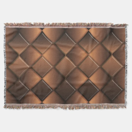 Geometric abstract chocolate pattern. throw blanket