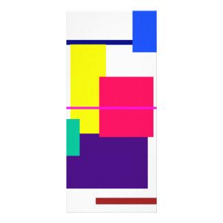 Geometric Abstract Design Custom Rack Card