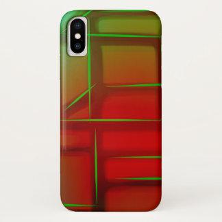 Geometric Abstract Digital Art iPhone X Case