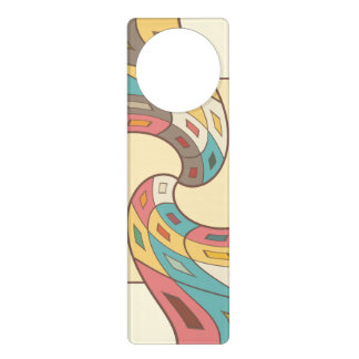 Geometric abstract door hanger