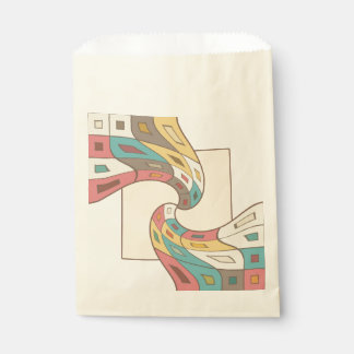 Geometric abstract favour bag