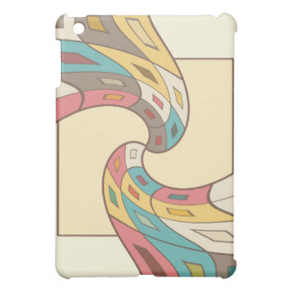 Geometric abstract iPad mini case