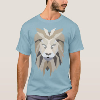 Geometric Abstract Lion Graphic T-Shirt