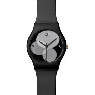 Geometric Abstract Modern Black White Minimal Cool Watch