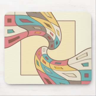Geometric abstract mouse pad