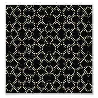 Geometric Abstract Pattern Futuristic Design Photo Print