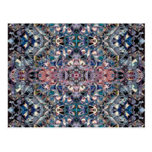 Geometric Abstract Pattern of Colours Postcard