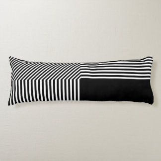 Geometric abstraction, black and white body cushion