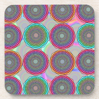 Geometric abstraction drink coasters