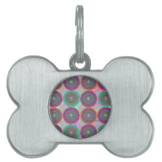 Geometric abstraction pet ID tag