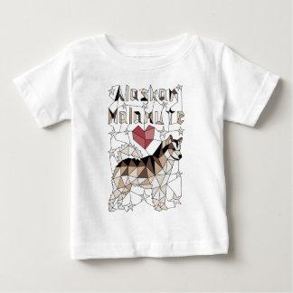 Geometric Alaskan Malamute Baby T-Shirt