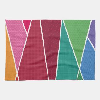 Geometric and colorful tea towel