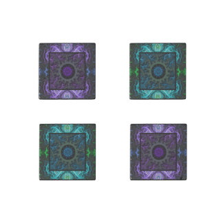 Geometric and Fractal Design Stone Magnet