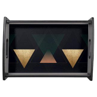 Geometric Art Deco Triangles Serving Tray