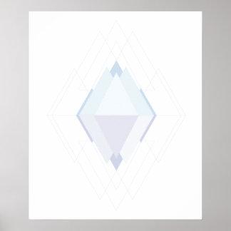Geometric art digital jewel Poster