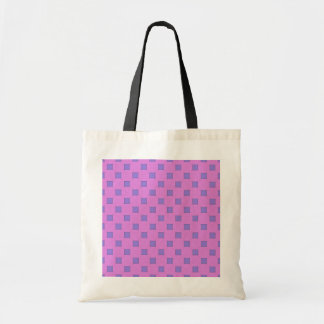 Geometric Art Lavender Lilac Squares On Rose Pink Canvas Bags