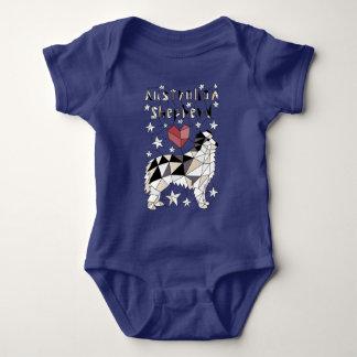 Geometric Australian Shepherd Baby Bodysuit