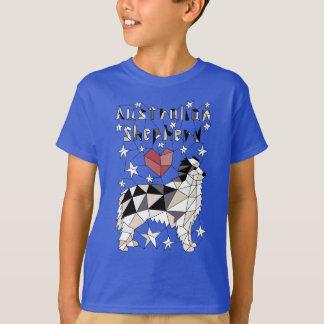 Geometric Australian Shepherd T-Shirt
