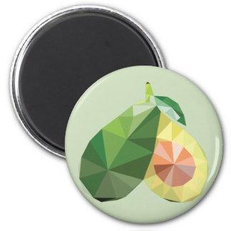 Geometric avocado 6 cm round magnet
