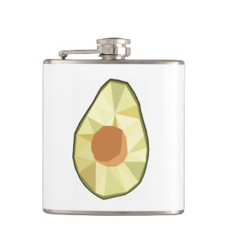 Geometric Avocado Flask