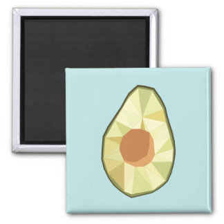 Geometric Avocado Magnet [BLUE]