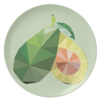 Geometric avocado plate