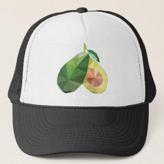 Geometric avocado trucker hat