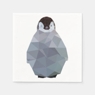 Geometric Baby Penguin Print Disposable Napkin