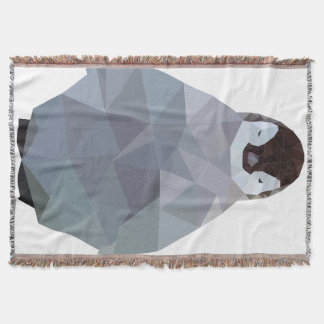 Geometric Baby Penguin Print Throw Blanket