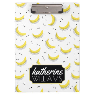 Geometric Bananas | Add Your Name Clipboard