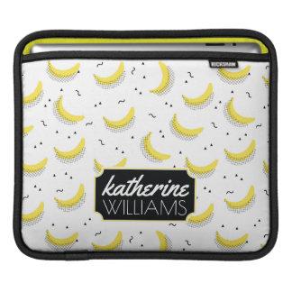 Geometric Bananas | Add Your Name iPad Sleeve