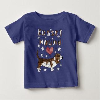 Geometric Basset Hound Baby T-Shirt