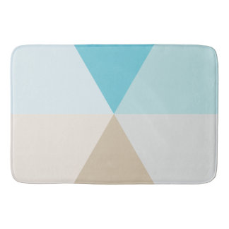Geometric Beach color palette bathroom decor Bath Mat