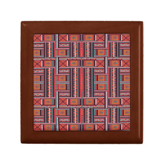Geometric Bead Effect Pattern Ethnic Tribal Look Gift Box