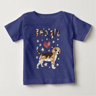 Geometric Beagle Baby T-Shirt