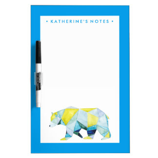 Geometric Bear Animal Dry-Erase Whiteboards