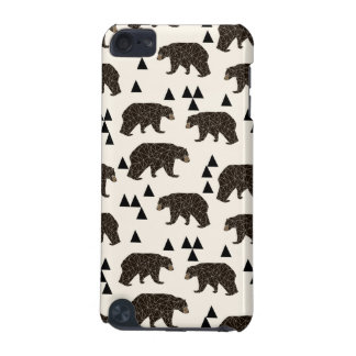 Geometric Bear Cream Geo Woodland / Andrea Lauren iPod Touch (5th Generation) Covers