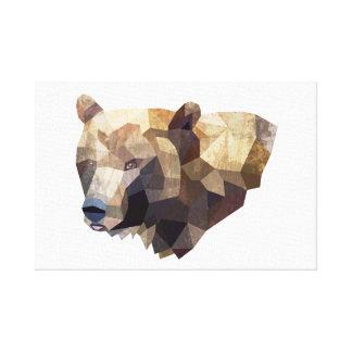 Geometric Bear Illustration Canvas Gallery Wrap Canvas