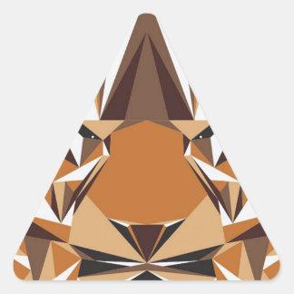 Geometric Bear Triangle Sticker