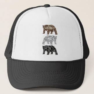 Geometric Bears Trucker Hat
