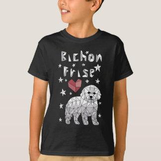 Geometric Bichon Frise T-Shirt