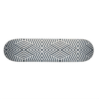 Geometric black and white graffiti skateboard deck