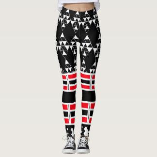 Geometric Black and White Leggins Leggings