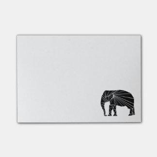 Geometric black elephant post-it® notes